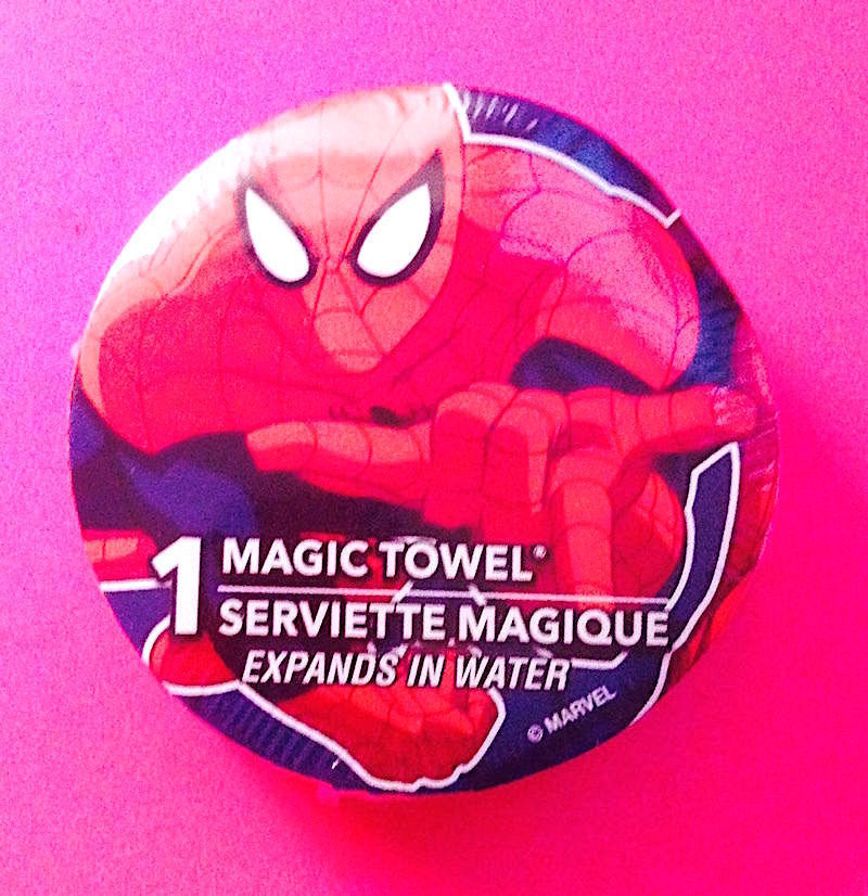 Spider-Man Magic Towel-Marvel New &Factory Sealed—More Fun Characters Avail Too!