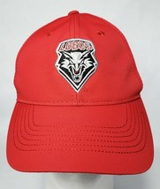 New Mexico Lobos Mens Red Hat Cap Lightweight Adjustable Strapback Ouray NWT - $9.89