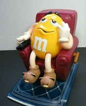 1999 Collectible M&M's Candy Dispenser Mr. Yellow In Recliner TV Remote - $12.00
