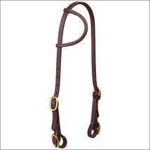 Weaver Solid Brass Sliding Ear Headstall Buckle Bit Ends, Golden Chestnu... - $44.50