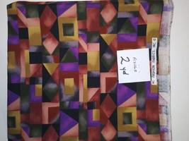 Geometric print Fabric, Hi-Fashion Fabrics, 2 Yard (A2065) - $4.00