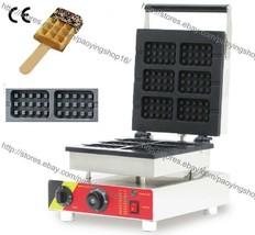 Commercial Nonstick 110v 220v Electric 6pcs Belgian Waffle Stick Baker Maker Pan - $259.00