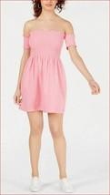 new Juicy Couture women JWTKD162213 Bikini Pink Smocked Dress S MSRP $89 - $24.99