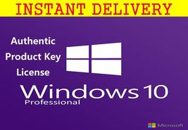 Windows 10 Pro Professional Key With Download 32/64 Bit Instant Delivery - $8.90