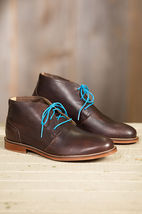 Handmade Men Dark brown leather Chukka boots, Men leather casual ankle boots - $169.99
