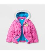 NEW Girls Moose Shopkins Puffy Puffer Coat Jacket Size 4 5 6 6x Lippy Li... - $17.99+