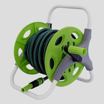 Garden Water Hose Pipe Reel Set 15m Complete Fittings Conectors Spray No... - $31.89