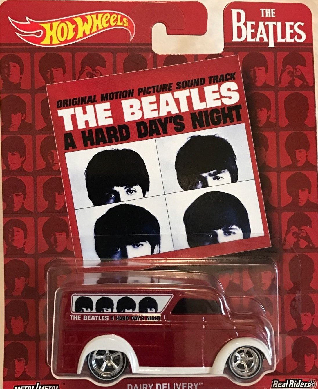 The Beatles A Hard Day's Night Hot Wheels Dairy Delivery Diecast Car Van OOP