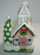 Christmas Church Ceramic Music Box Silent Night Made In Japan Lights Not... - $24.70