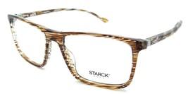 Starck Eyes Mikli Rx Eyeglasses Frames SH3025 0018 57-17-145 Striped Brown Italy - $117.60