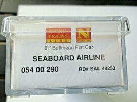 Micro-Trains # 05400290 Seaboard 61' Bulkhead Flat Car with Lumber Load N-Scale image 5