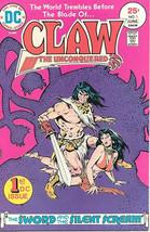 Claw The Unconquered Comic Book #1, DC Comics 1975 FINE+ - $4.99