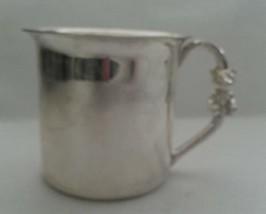 Vintage Hallmark Keepsakes Silver Plate Childs Christening Mug Teddy Bea... - $9.89