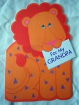 Vintage Hallmark For My Grandpa Lion Card 1980s - $1.99