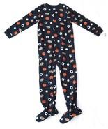Boy Carters Fleece Footed Pajama Blanket Sleeper 7 8 10 12 14 Navy Sport... - $23.74