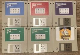 Vintage Microsoft Entertainment Pack 1,2,3,4,BestOf IBM PC 6-Disk Set Windows 3x - $27.00
