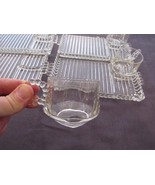 Orchard Crystal Party Set Platter and Cup Set of 4 Still In Box - $24.85