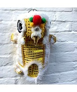 NACOCO Cute Dance Lion Pet Costume with Yellow Sequins New Year Cat Dog ... - $20.78