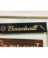 Handmade solid wood engraved wall decor sign baseball theme  - $30.00