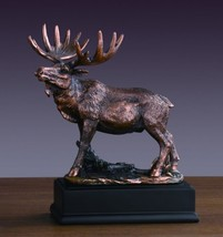 Bronze Finished Moose Statue - $35.34