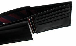 New Tommy Hilfiger Men's Leather Credit Card ID Passcase Wallet Black 31TL22X060 image 8