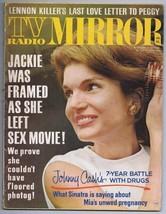 ORIGINAL Vintage 1969 TV Radio Mirror Magazine Jackie Kennedy Onassis - $29.69