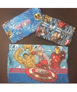 The Avengers Twin Sheet Set Pillowcase Flat Fitted Marvel Characters Bed... - $29.69
