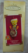 "Hallmark Looney Tunes CHRISTMAS HABITAT TWEETY BIRD 3"" CHRISTMAS ORNAMENT - $16.34"