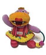 "Lamaze Plush Hippo Crinkle Teether Rattle Multicolor Multi Fabric 10"" - $13.59"