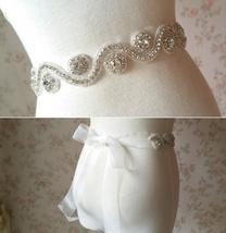RHINESTONE Sash Belt Wedding Accessories Rhinestone Bridal Bridesmaid Sash NWT image 1