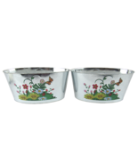 Floral Pattern Garden Planter Tin (2-Pack) 4in x 9in x 5in - $8.34