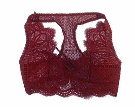 Victoria's Secret Dream Angels Bralette Racerback Lace Unlined Bra Small NWT Red - $37.86
