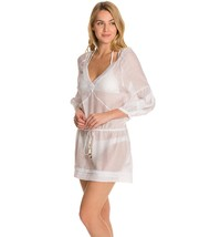 Vix Swimwear Solid Julie Tunic Coverup White Dress - $75.97