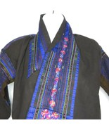 Antique Chinese Miao Hmong Hill People Hand Embroidered Costume Jacket R... - $296.95