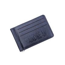 Retro Mens Genuine Leather Bifold Clip Wallet Slim Card Holders - $18.42