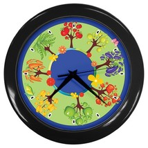 Fruit Trees Custom Black Wall Clock - $19.95