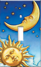 MOON SUN LIGHT SWITCH PLATE / CELESTIAL HOME DECOR - $4.95