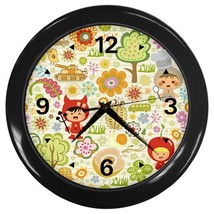 Kids Life Custom Black Wall Clock - $19.95
