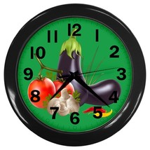 Veggies Custom Black Wall Clock - $19.95