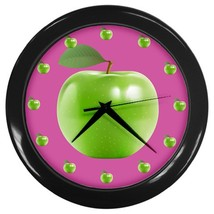 Apples Custom Black Wall Clock - $19.95