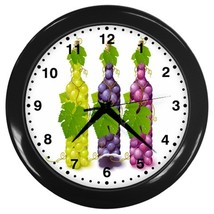 Grapes Custom Black Wall Clock - $19.95