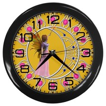 Fairy Magic Custom Black Wall Clock - $19.95
