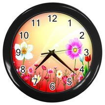 Spring In The Air Custom Black Wall Clock - $19.95