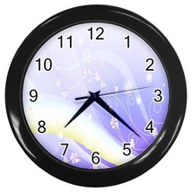 Purple Dreams Custom Black Wall Clock - $19.95