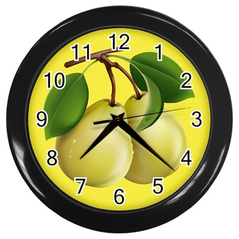 Pears Custom Black Wall Clock