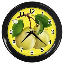 Pears Custom Black Wall Clock - $19.95
