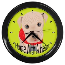 Home With A Heart Custom Black Wall Clock - $19.95