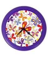 Butterflies Custom Purple Wall Clock - $19.95