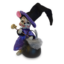 Annalee Dolls 6in 2018 Halloween Mouse with Cauldron Plush New with Tags - $20.05