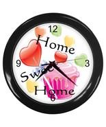 Home Sweet Home Custom Black Wall Clock - $19.95